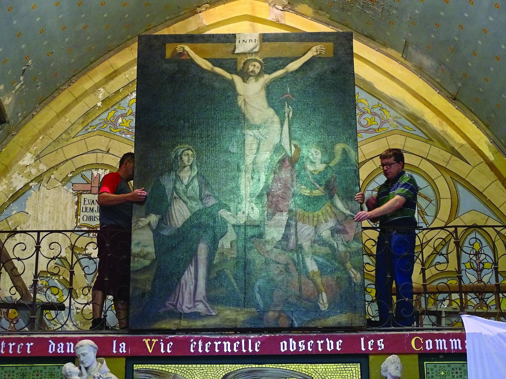 Le Riverain - Un tableau sauvé et restauré